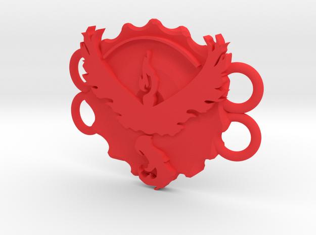 Pokemon Go Team Valor Bracelet Medallion in Red Processed Versatile Plastic