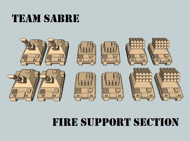 """Team Sabre"" 3mm Tracked Fire Support (12pcs) in White Strong & Flexible"