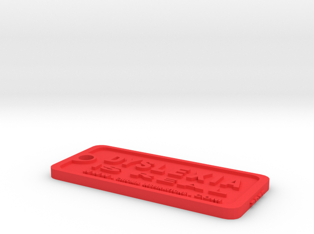 Tag-D-5 in Red Processed Versatile Plastic