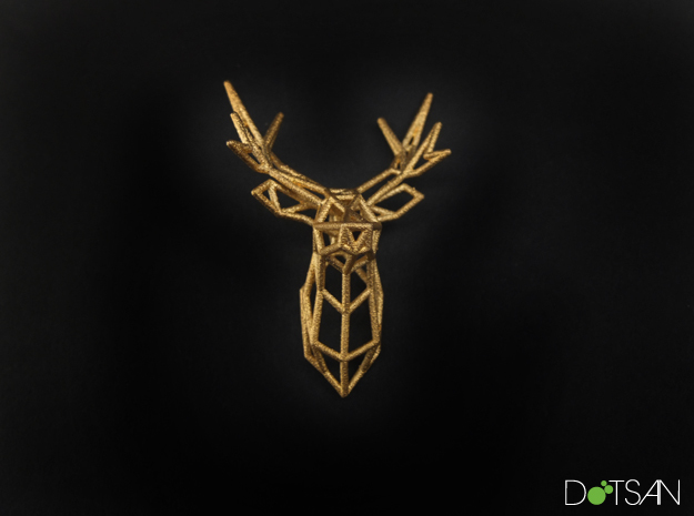 Stag Deer Facing Forward Pendant