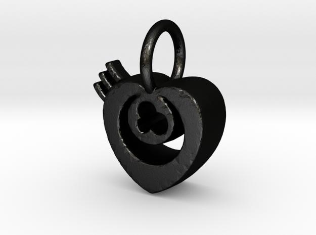 eye heart in Matte Black Steel