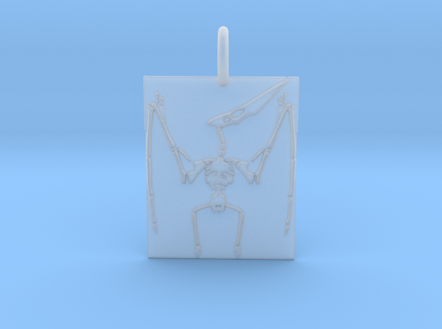 Pterodactyl Skeleton Pendant in Smooth Fine Detail Plastic