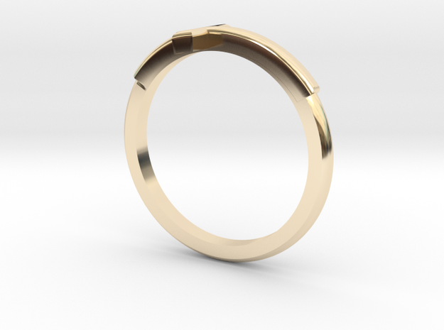 Cross Mid Finger Ring in 14K Gold