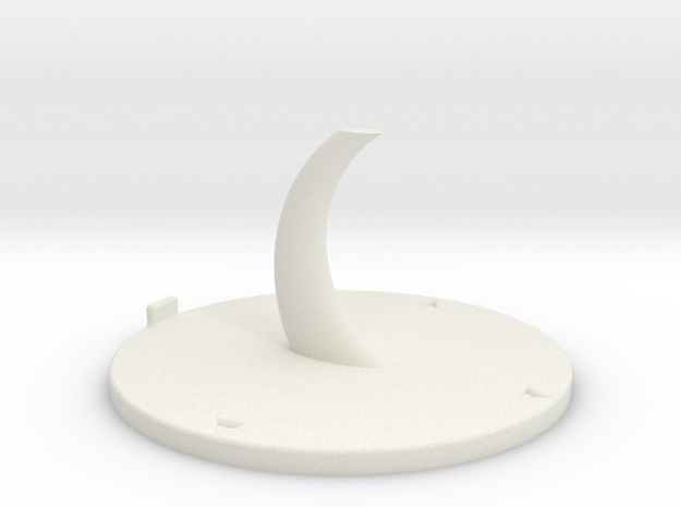 Base Swosh 20mm in White Natural Versatile Plastic