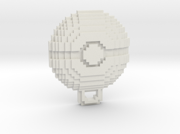 Pokeball Pendant in White Natural Versatile Plastic
