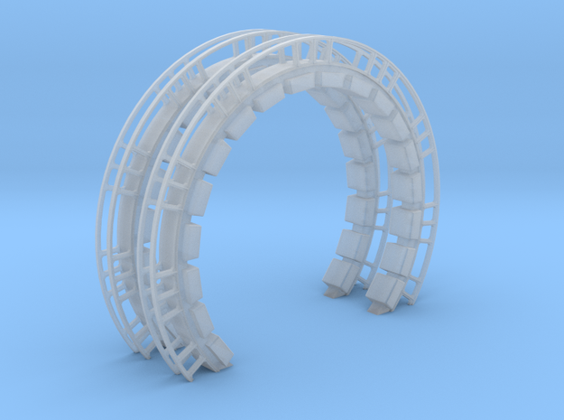 Large Ring With Cushions 2 Pack for DeAgo Falcon in Smooth Fine Detail Plastic