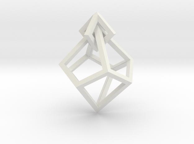 Anti-Diamond Earring in White Strong & Flexible
