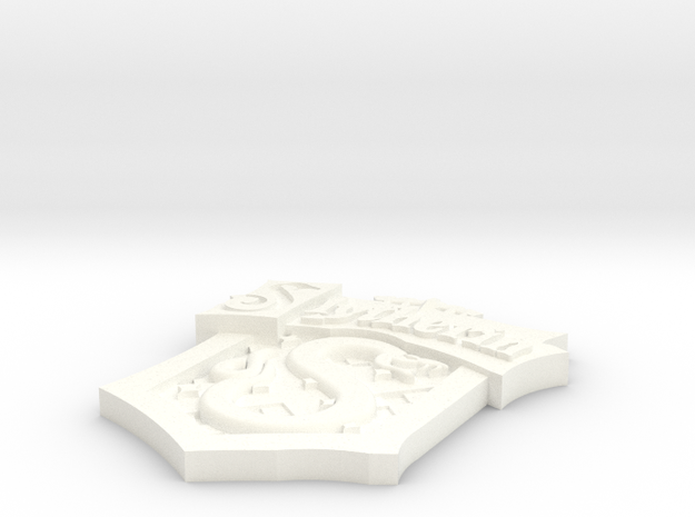 Slytherin Crest in White Processed Versatile Plastic