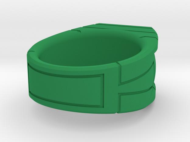 Size 10 Green Lantern Ring in Green Processed Versatile Plastic