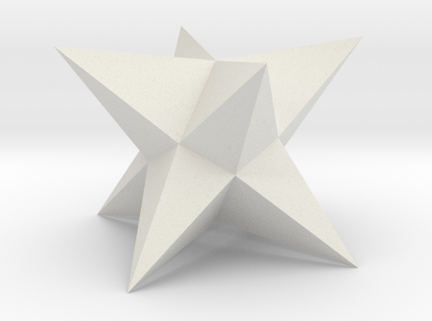 Stellated Square Trapezohedron in White Strong & Flexible