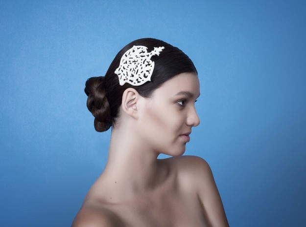 Hair Comb in White Strong & Flexible