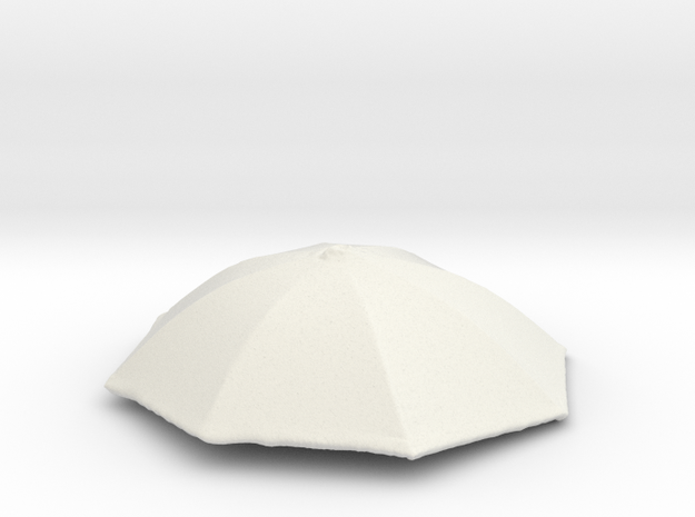 1/24 Realiastic Umbrella Top for Auto Diorama in White Natural Versatile Plastic