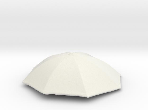 1/24 Realiastic Umbrella Top for Auto Diorama in White Natural Versatile Plastic