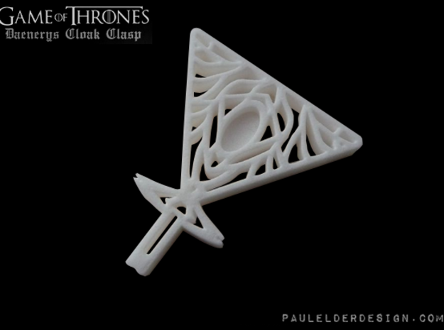Daenerys Cloak Clasp in White Strong & Flexible