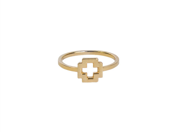 Dainty Plus Ring in 14k Gold Plated Brass