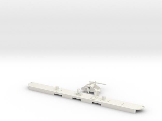 1:6 scale Hasbro HMMWV Rear bumper in White Natural Versatile Plastic