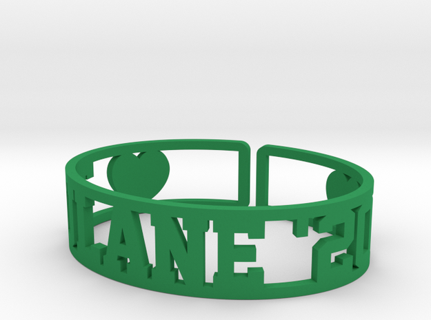 Tulane '20 Cuff in Green Strong & Flexible Polished