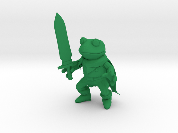 Frog and Sword Low Poly figure