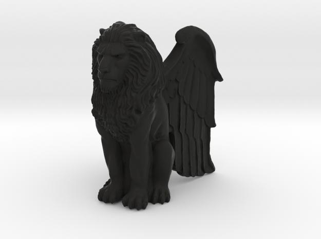 Lion, Winged, 42mm in Black Natural Versatile Plastic
