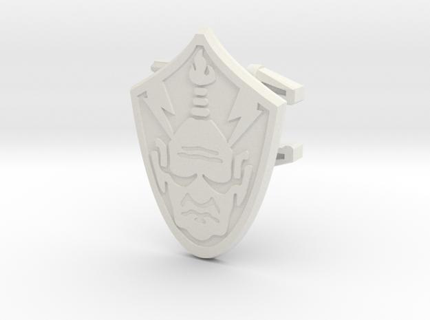 Baltard Shield - 4mm MOTU Scale in White Natural Versatile Plastic