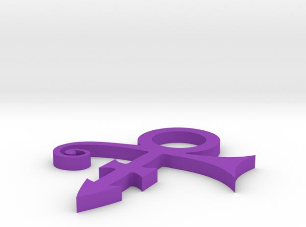 Prince Symbol Pendant in Purple Processed Versatile Plastic
