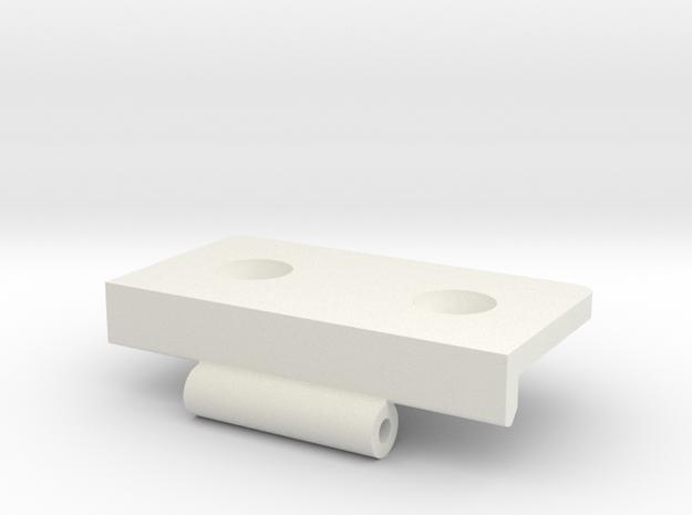 Kastscharnier V03-B in White Natural Versatile Plastic
