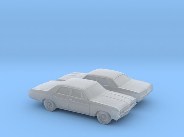 1/160 2X 1965 Buick Skylark Sedan in Smooth Fine Detail Plastic