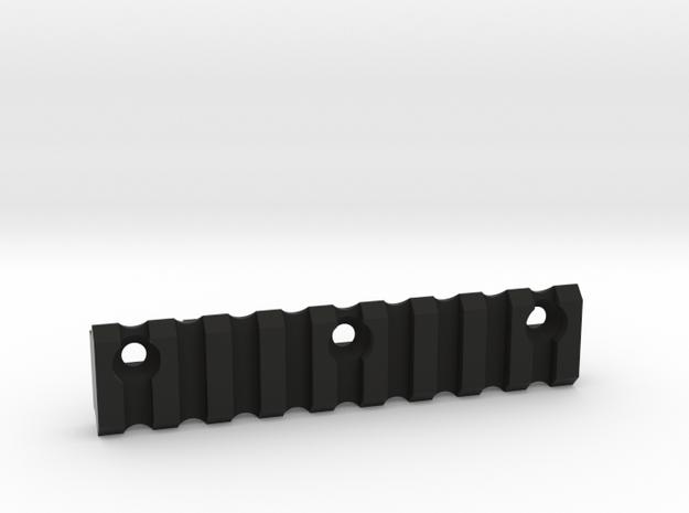 9 slot Keymod side Picatinny rail in Black Natural Versatile Plastic