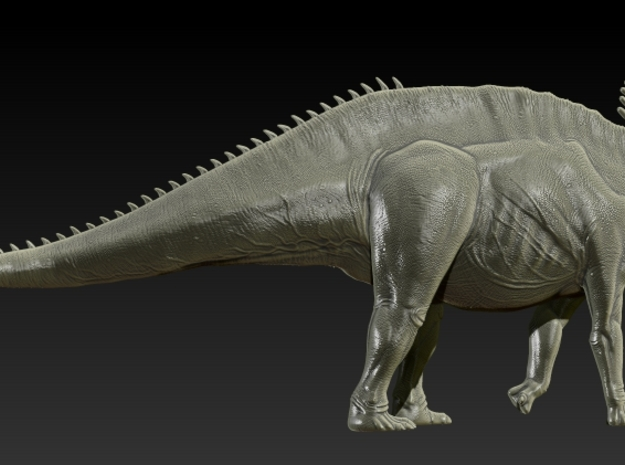 1/72 Amargasaurus - Walking 2 3d printed Zbrush Render of Final Sculpt