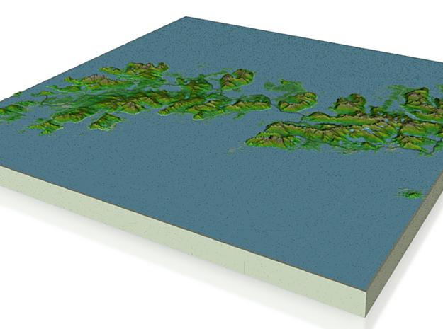 Terrafab generated model Mon Nov 11 2013 04:23:43 3d printed