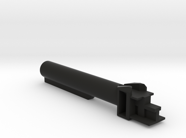 AK 6 position buffer military stock in Black Natural Versatile Plastic