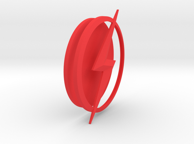THE FLASH - Kid Flash Chest Emblem in Red Processed Versatile Plastic