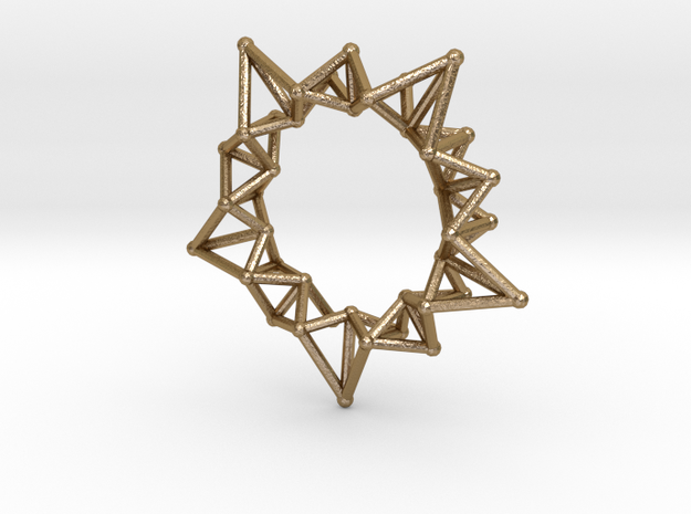 Star Rings 5 Points - Small - 3cm in Polished Gold Steel