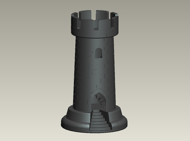 Rook W Staircase 4in Tall 3d printed 4 in Rook w/ staircase