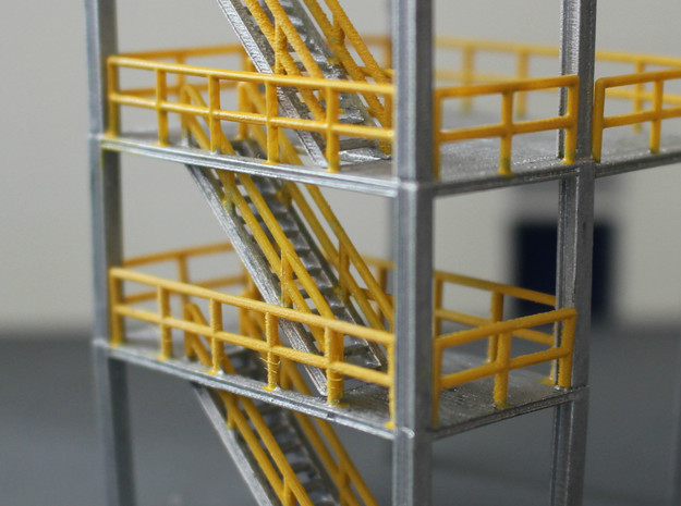N Scale 3x Refinery Stairs (modular)