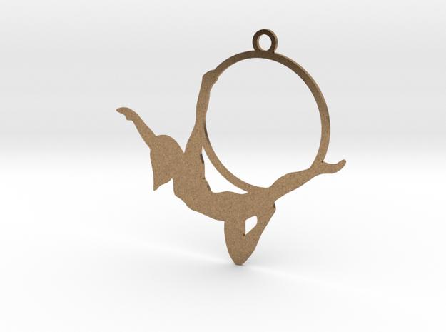 """""""Peterpan"""" Aerial hoop pose in Raw Brass"""