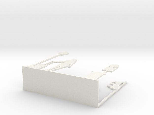 "Napkin Holder ""Urban love"" in White Strong & Flexible"