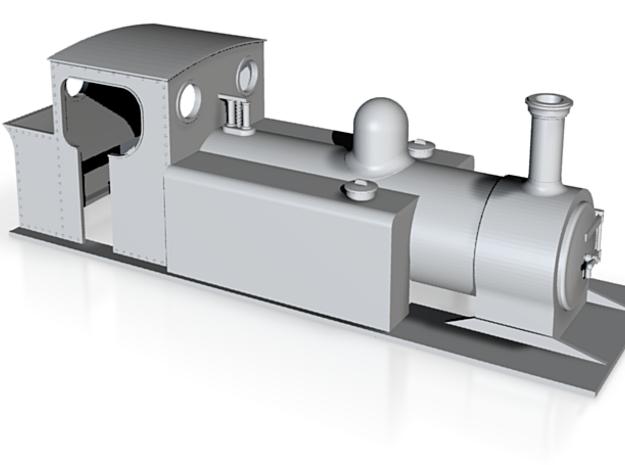OO9 Hudswell Clarke Pacific Tank loco 3d printed