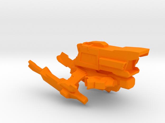 Interplanetary Tiger Spaceship in Orange Processed Versatile Plastic