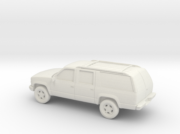 1/100 1999 Chevrolet Suburban in White Natural Versatile Plastic