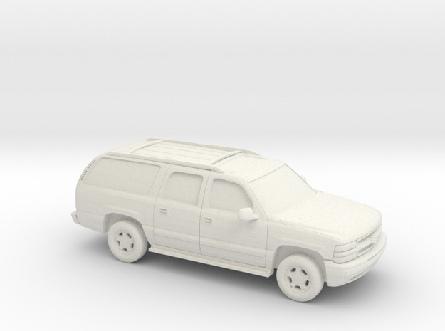 1/100 2000 Chevrolet Suburban in White Natural Versatile Plastic