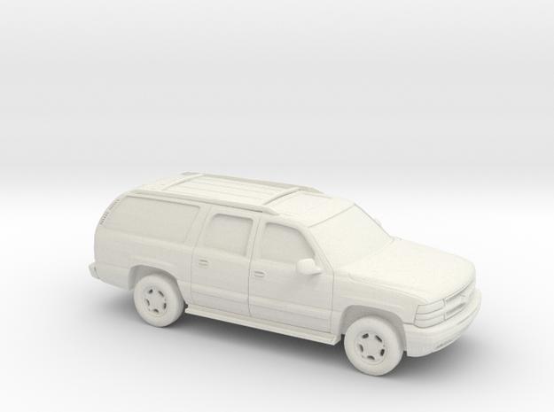 1/100 2000 Chevrolet Suburban in White Natural Versatile Plastic