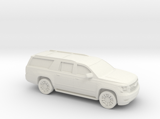 1/100 2015 Chevrolet Suburban in White Natural Versatile Plastic
