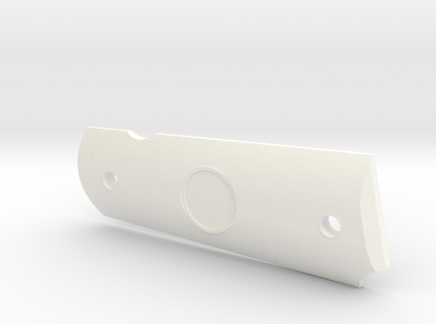 CUSTOM Colt 1911A1 right grip v. II in White Processed Versatile Plastic