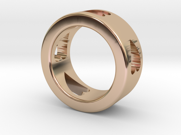 LOVE RING Size-5 in 14k Rose Gold