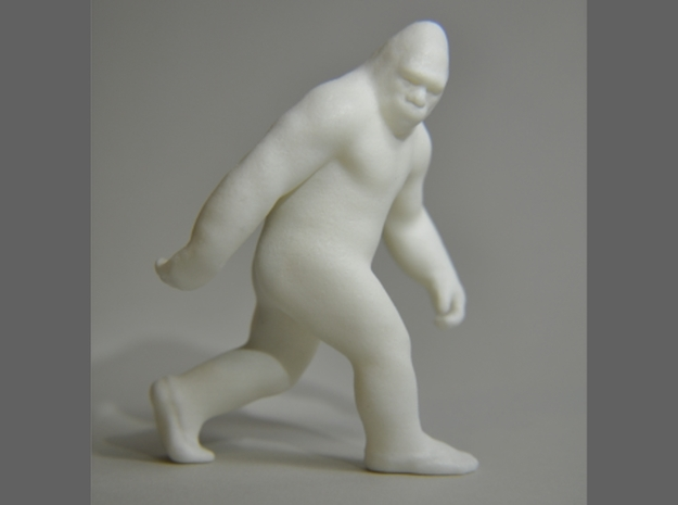 SASQUATCH 3d printed white strong flexible polished. 3 inches tall