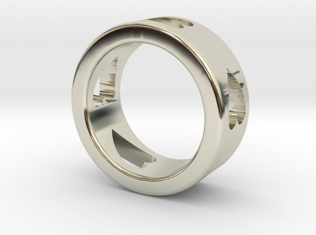 LOVE RING size-6 in 14k White Gold
