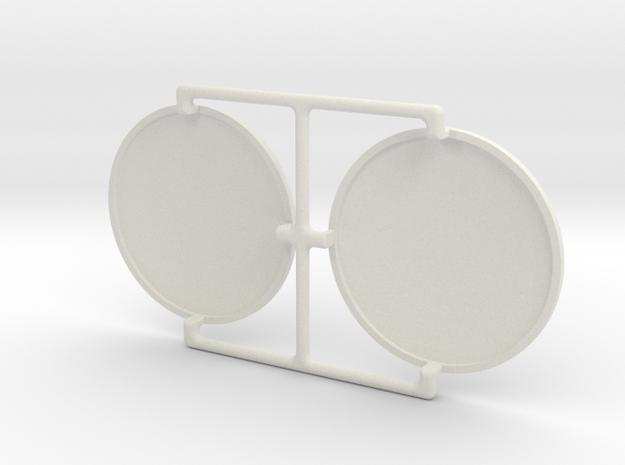 4X20 Scope Lens Pair in White Natural Versatile Plastic