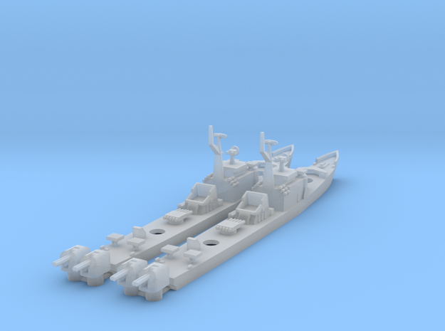 1/1250 Soviet Petya Frigate X 2 in Frosted Ultra Detail