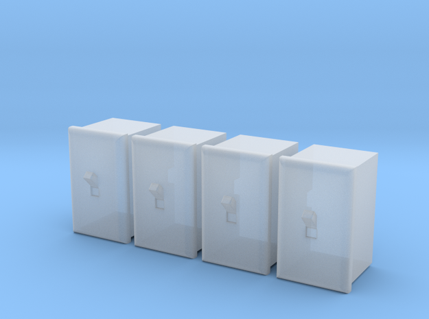 1/24 Light Switch, Qty 4 in Smoothest Fine Detail Plastic